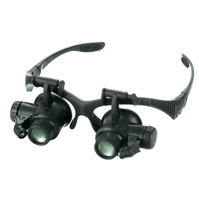 10X 15X 20X 25X nagyítóval dupla LED lámpák szemüveg lencse - Mérőműszerek - Fénykép 2