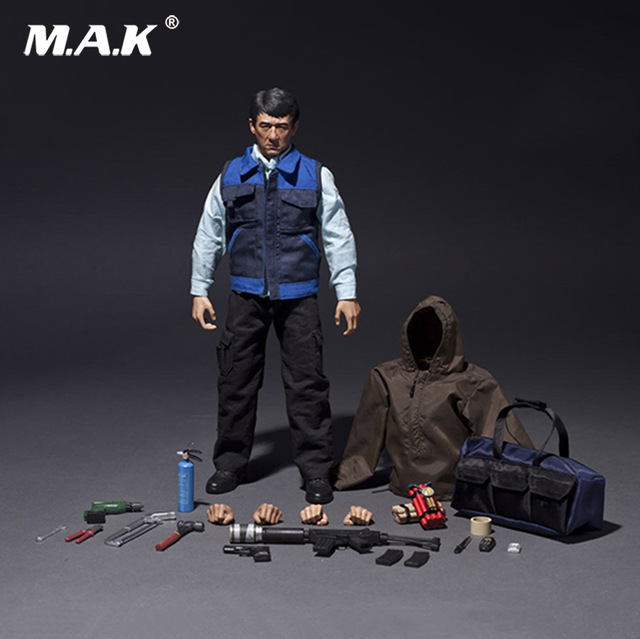 цена на 1/6 NO.013 The Foreigner Veterans Jackie Chan Male Action Figure