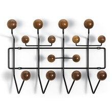 Multi color creativo palla di legno massello di noce gancio decorazione della parete hat rack appendiabiti artigianato mobili soggiorno
