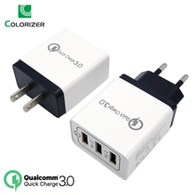 18W Quick Charge 3.0 USB Charger 5V 2.4A QC3.0 Fast Charging 3 USB Wall Charger For iPhone Samsung Xiaomi Mobile Phone Charger tronsmart quick charge 3 0 usb rapid wall charger stand up charger