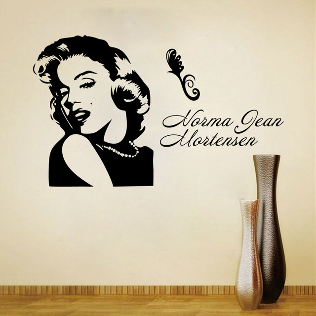 2017 New Design Fine Sexy Goddess Marilyn Monroe Home Decoration Wall  Stickers Living Room Sofa Wall