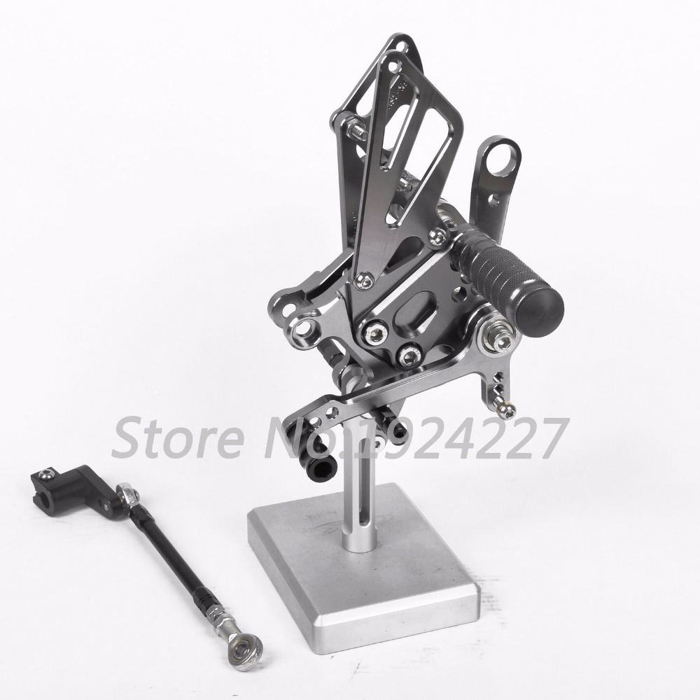 For APRILIA RSV4 2009-2016 CNC Aluminum Foot Pegs Rearsets Rear Sets Brake Shift Motorcycle Adjustable 2010 2012 High-quality цены