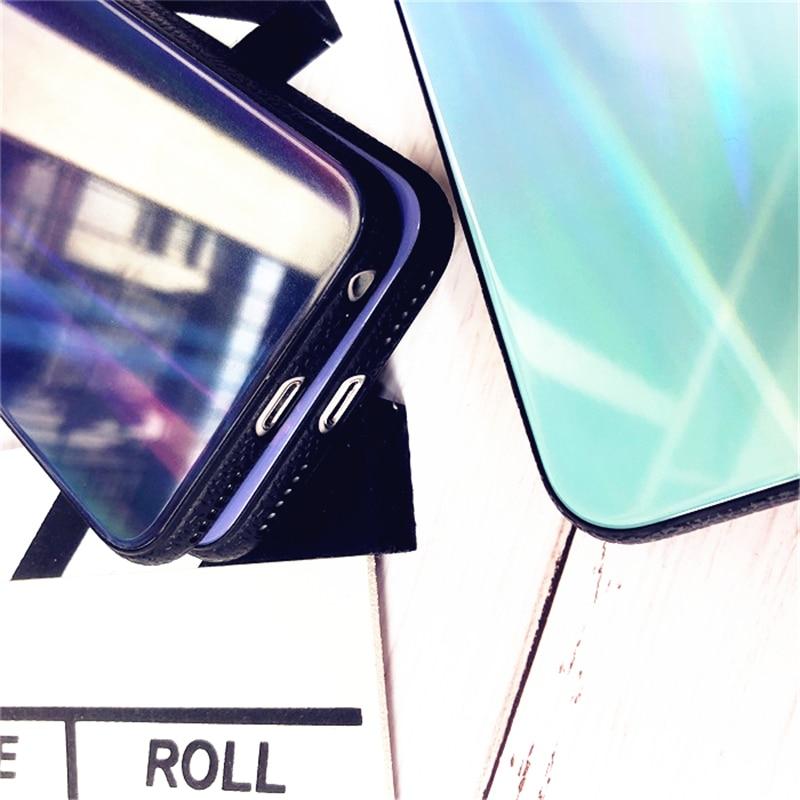BONVAN For iPhone X 7 8 Plus Tempered Glass Back Case Gradient Color Laser Aurora Silicone Bumper For iPhone 7 6S 8 6 Plus Cover28