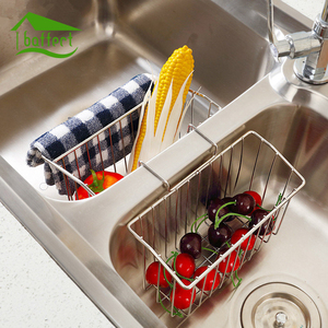 Stainless Steel Hanging Drain Baskets Soap Sponge Drain Rack Shelves Kitchen Storage Tools Sink Holder Kitchen Accessory