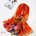 2017 Nova marca de Luxo estilo Moda outono Inverno Mulheres impressão Lenço de seda Melhor Qualidade Cachecóis & Wraps