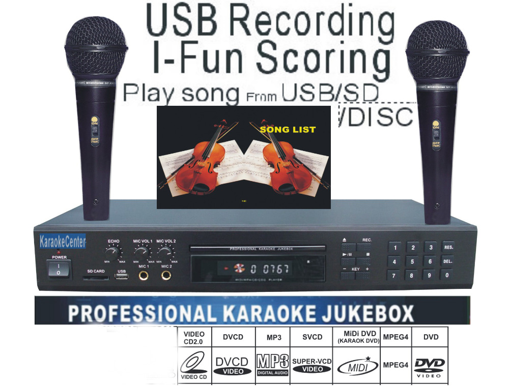 midi dvd karaoke player recorder system with songs dvd dvix vcd play song from usb sd card. Black Bedroom Furniture Sets. Home Design Ideas