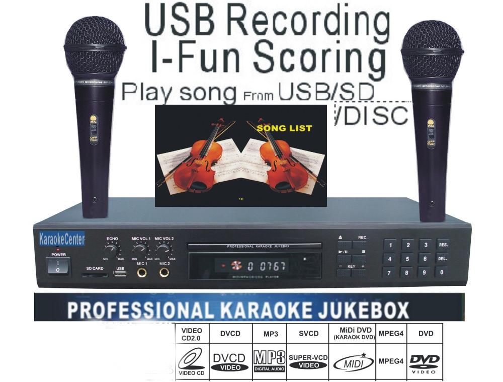 Home Entertainment-system Unterhaltungselektronik Sanft Midi/dvd-karaoke-player/mit Songs Dvd/dvix/vcd Spiel-lied Von Usb/sd-karte/disc