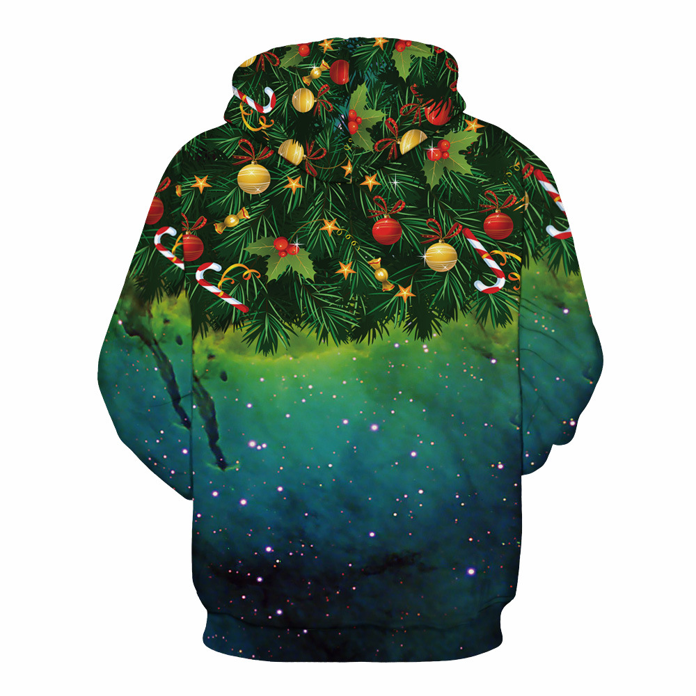 Mr.1991INC Sky Christmas tree Print Men Hooded Sweatshirt autumn winter casual Pullovers Men/Women hoodie Hoodies S-3XL M153