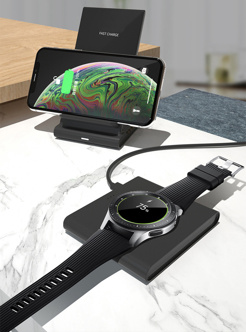 Image 5 - qi Magnetic Wireless charger desktop station for iPhone 8 XR 