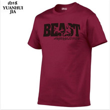 c09563d7256b86 2018 New Brand Bodybuilding Fitness Men s Animal Print T-shirt Sking Top  BEAST MODE Claws