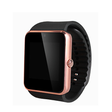 GT08 gimnasio Reloj teléfono Con Ranura Para Tarjeta Sim Reloj inteligente Empuje Mensaje a través de Bluetooth para el Teléfono Android Smartwatch DZ09 PK