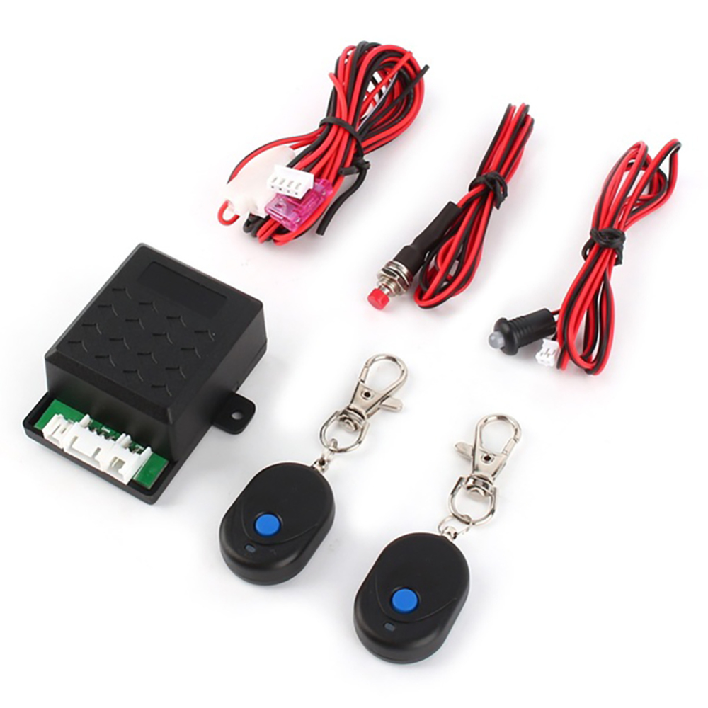 Universal Car Engine Push Start Remote Control Button Starter DC12V Keyless Entry Stop Immobilizer