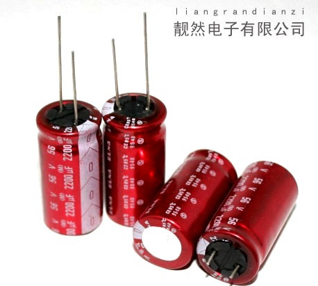 ФОТО Custom Products 2200uF 56v OFC 18x35 front audio electrolytic capacitor