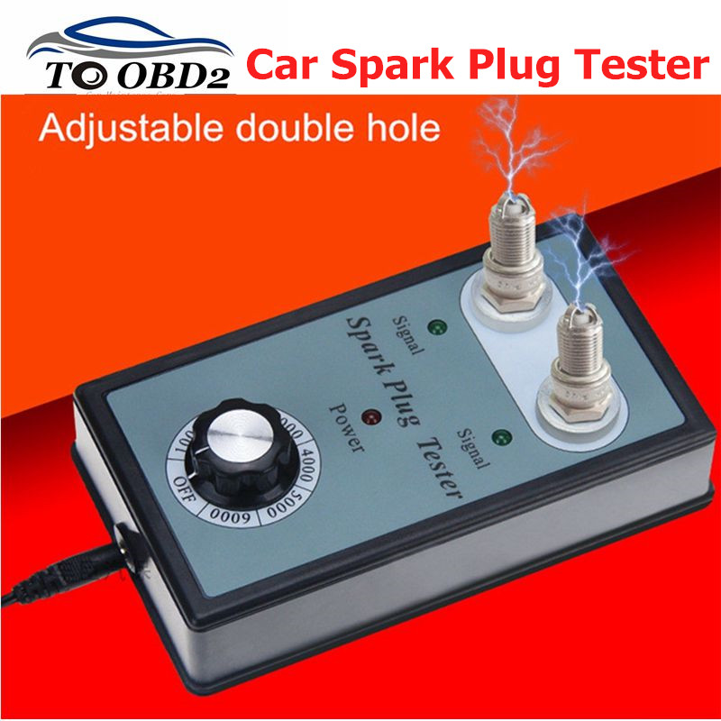 Dual Hole 12v Car Spark Plug Tester Ignition Plug Analyzer For 12V Gasoline Vehicles Car Spark Plug Tester Best Price