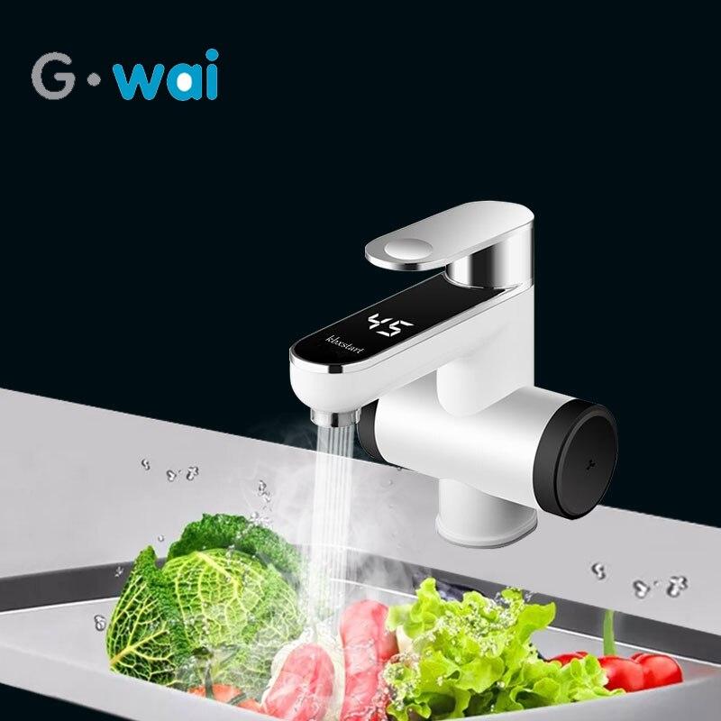 220 V salle de bains chauffe-eau électrique instantané chauffe-eau robinet sans réservoir robinet électrique avec affichage de la température