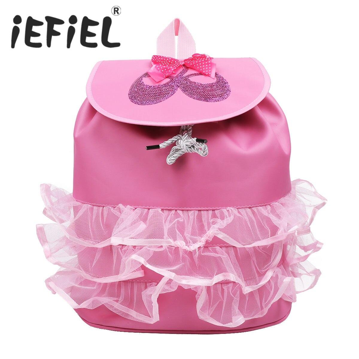 Little Girls Ballet School Backpack Embroidered Princess Child Shoulder Bag for Children's Kid Dancing Ballet Dancewear Bag
