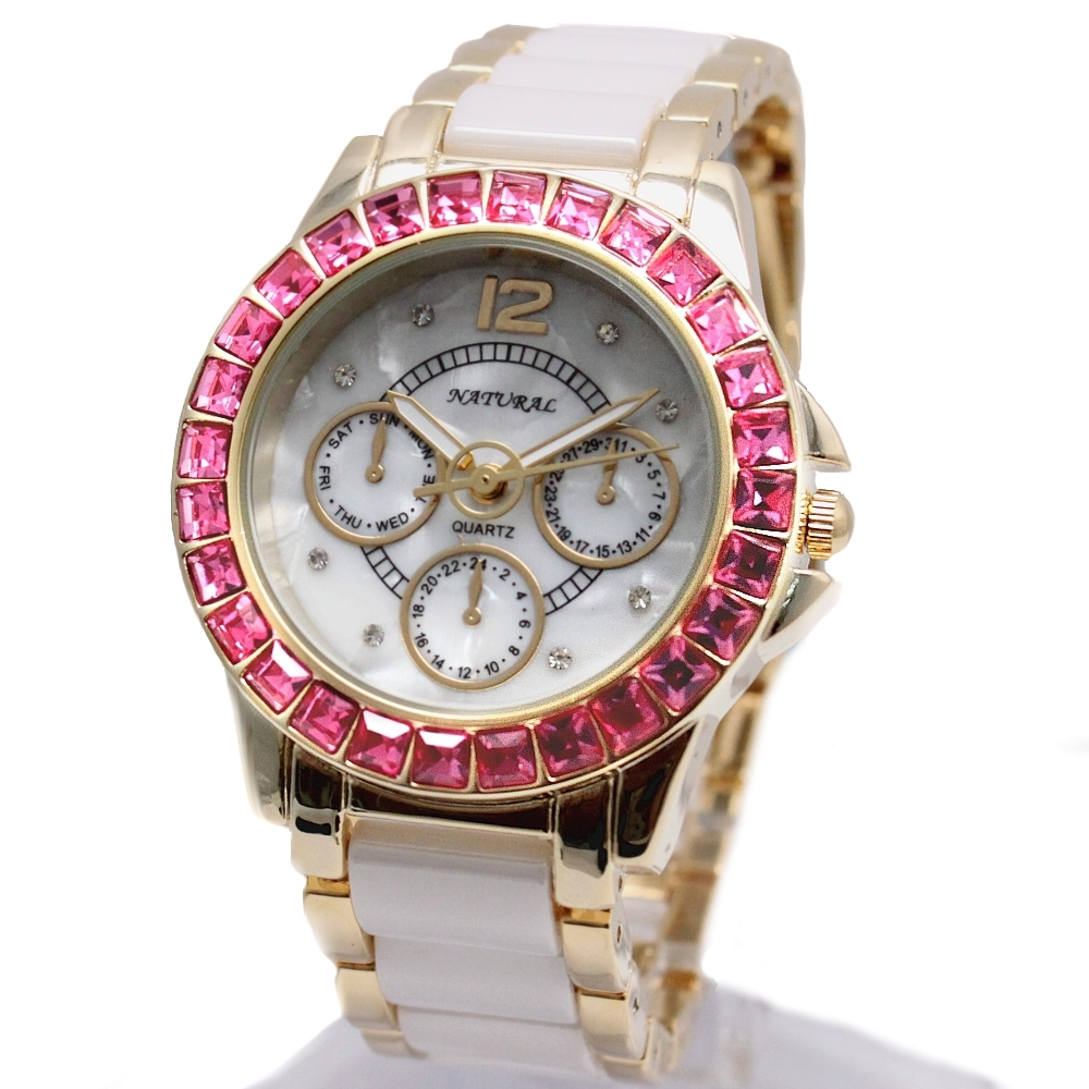 Alexis Brand New Gold Ceramic Watches Shell Water Resistant Rose Crystal Ladies Bracelet Watch women 2017 Ladies watches natural brand new gold ceramic watches shell white dial water resistant rose crystal ladies bracelet watch fw830v free gift box