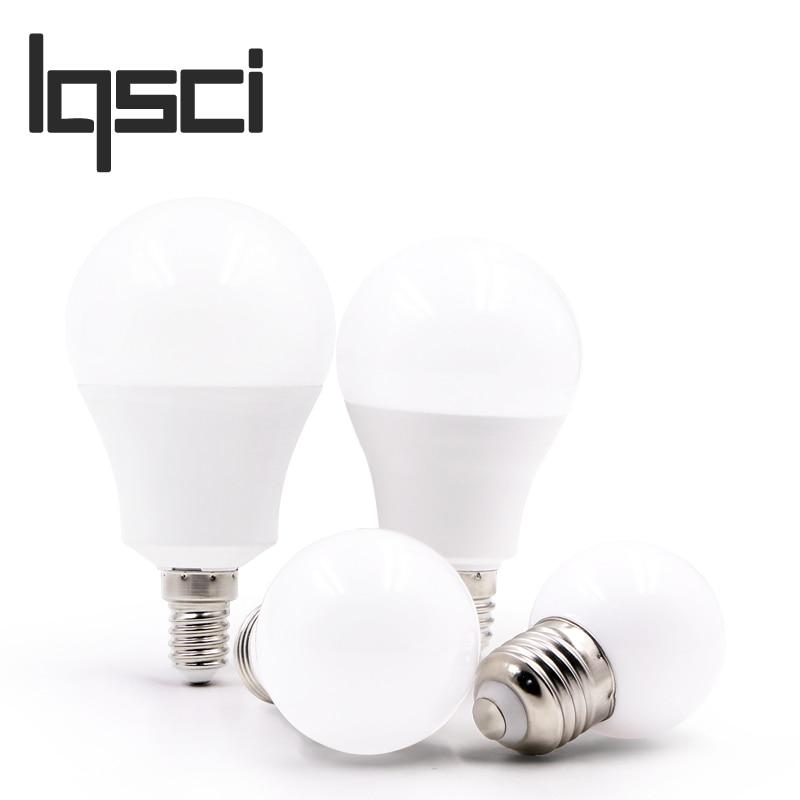 LQSCI LED Bulb Lamps E14 E27 220V  Light Bulb Smart IC Real Power 3W 6W 9W 12W 15W 18W 20W High Brightness Lampada BombillasLQSCI LED Bulb Lamps E14 E27 220V  Light Bulb Smart IC Real Power 3W 6W 9W 12W 15W 18W 20W High Brightness Lampada Bombillas
