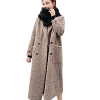 2019 cashmere coat Parka female sheep sheared jacket long female fur coat lamb hair thicken warm Plus size high end women coat