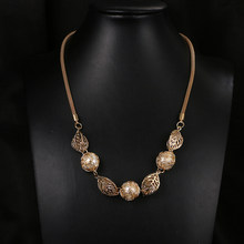 Emmaya Trendy Women Statement Pearl Leaf Pendants Necklaces Fashion Jewelry Long Chain Women Jewelry Gift Party Wedding(China)