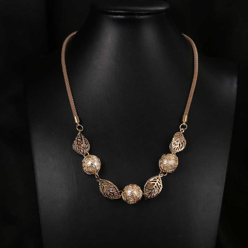 Emmaya Hợp Thời Trang Phụ Nữ Tuyên Bố Trân Leaf Mặt Dây Chuyền Thời Trang Trang Sức Xích Long Phụ Nữ Jewelry Quà Tặng Đảng Wedding