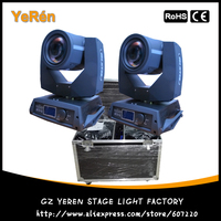 (2 pieces/lot) With Roadcase 7R 230 Beam Moving Head Light Beam Pro Stage Lighting with Osram Lamp 16DMX channel