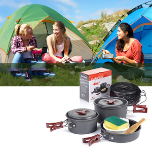 Image 3 - Naturehike Outdoor Camping cookware set camping utensils set tableware set crockery travel Tableware Utensils hiking picnic set