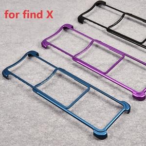 Image 3 - OATSBASF Luxury Metal Frame Shape Shockproof Case For OPPO Find X Protect Case Push pull design Back Phone Cover Case Bumper