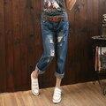 Apenada Vintage Spandex Regular Ripped Denim jeans Pantalones Harem Jeans mujer Plus Tamaño