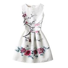 Платья для девочек; коллекция года; летнее платье без рукавов для девочек; Художественные платья принцессы с бабочками и цветами для подростков; праздничная одежда для дня рождения