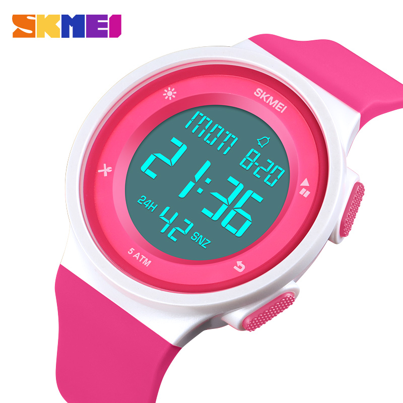 Women's Watches Waterproof LED Digital Ladies Sport Watch Women Multifunction Boy Girl Wristwatch Montre Femme SKMEI 2018
