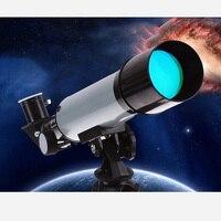 Профессиональный масштабируемый наружный рефрактор 50 мм Монокуляр космический телескоп, астрономия с треногой детский фестиваль подарок