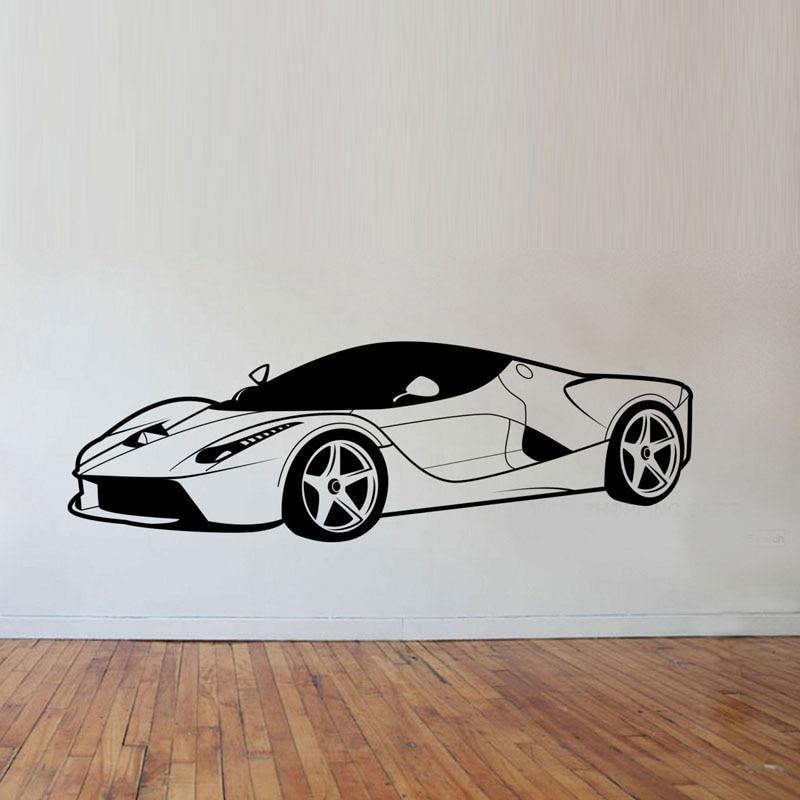 Cool Sports Car Wall Stickers Boys Bedroom Wall Decor Vinyl