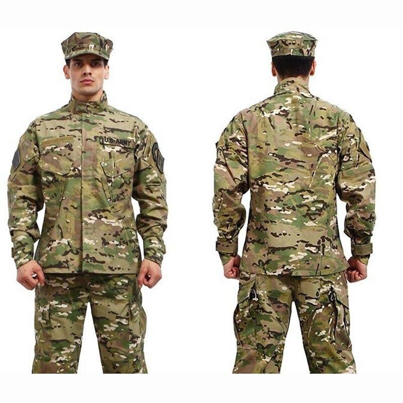 Vêtements de chasse Ghillie costume militaire tactique chemise Multicam uniformes ACU Kryptek Mandrake CP couleur chemise et pantalon uniformes