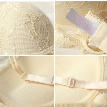 Sexy Lace Bra Set Women Underwear Set Push Up Bra Set Sexy Lcae Briefs Lingerie 3/4 Cup 70B 75B 80B Hot 5