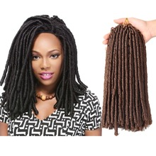 Soft Dread Locks Crochet Braids 14 inch Straight Hair Extens