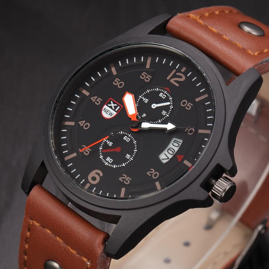 Relojes XINEW marca hombre reloj moda Barato regalos baratos reloj de  cuarzo Relojes Lujo Marcas hombres ejército fecha calendario reloj Vintage  en Relojes ... accb5dcd7581