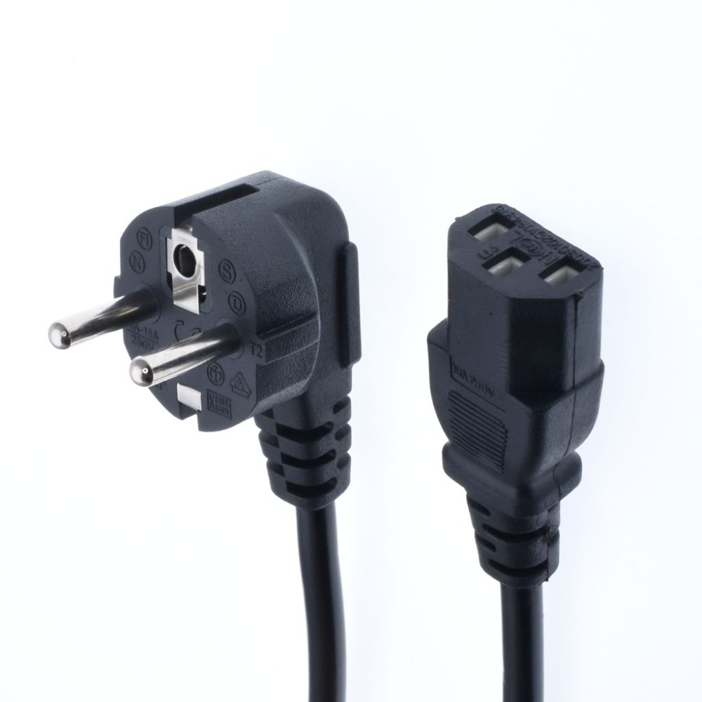 1 5m IEC320 C13 to European 2 pin Round Power line cables Schuko CEE7 7 Power Cable IEC320 C14 VDE Power cord in Power Cords Extension Cords from Home Improvement