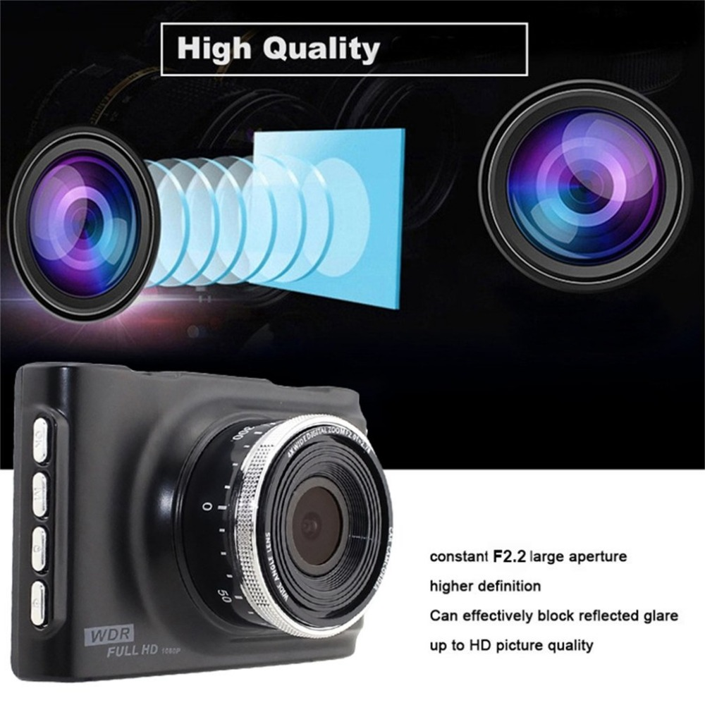 LESHP 3 Full HD 1080P Car DVR CCTV Dash Camera 170 Degree Wide Angle Lens G-Sensor Vehicle Video Cam Recorder Support TF Card car dvr vehicle camera dash cam driving video recorder 1080p hd camera 170 degree wide angle lens 3 inches screen night vision