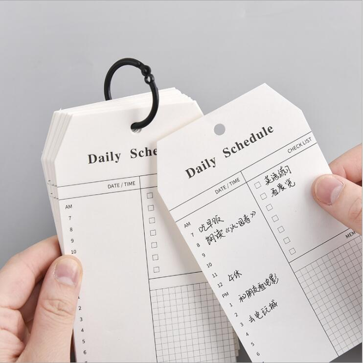 52 Sheets Newest Loose Leaf Daily Schedule To Do It List Planner Memo Note Pads  Study Work Notepads Book Stationery Supplies
