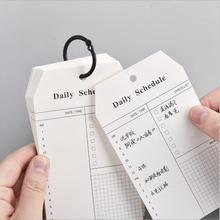52 листов новейший листовой ежедневное расписание для этого списка планировщик памятки колодки Примечание работа учеба блокноты книга канцелярские