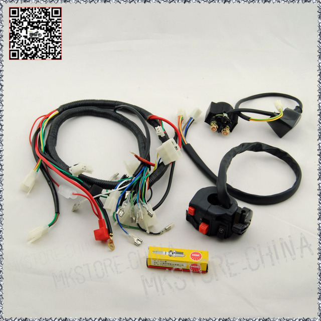 250cc ngk spark plug switch solenoid quad wiring harness chinese 200 rh aliexpress com Zongshen 250 Motor Zongshen Parts