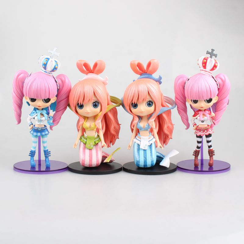 Qposket Cute One Piece Princess Shirahoshi Perona Action Figure Anime Model Toys Dolls Birthday 17cm