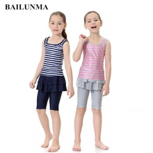Kids Swimsuit Girls Children Student Two-Piece Summer for Wholesale Training