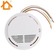 Проводной детектор дыма для домашней безопасности детектор дыма датчик сигнализации для системы охранной сигнализации 1 шт