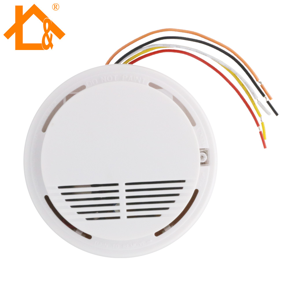 small resolution of wired smoke fire detector home security smoke detector alarm sensor how to wiring smoke detectors to burglar alarm system technology