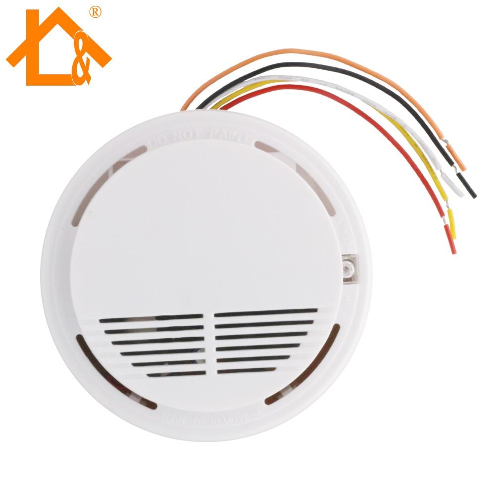 medium resolution of wired smoke fire detector home security smoke detector alarm sensor how to wiring smoke detectors to burglar alarm system technology