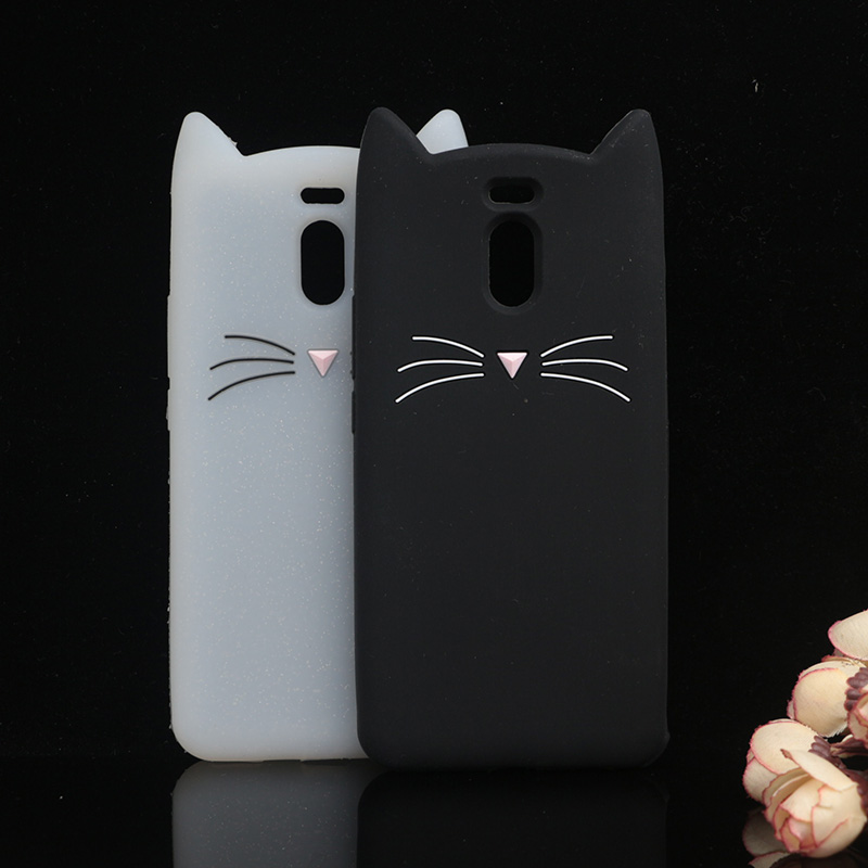 Case For Meizu Meilan Note 6 Lovely Animals Beard Cover For Meilan M6 Note Cute Cat Ears Glitter Back Shell Rubber Protective
