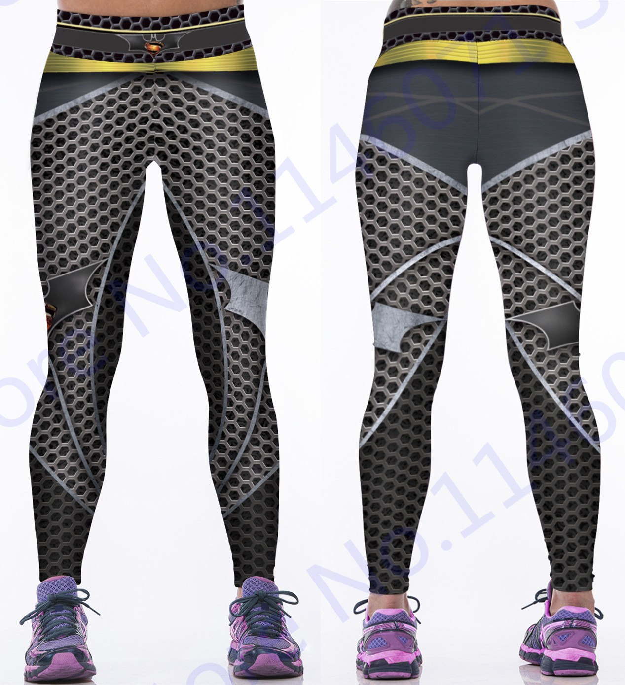 Prix pour 3D Batman V Superman Sport Yoga Jeggings L'aube De Justice Impression Noir De Yoga Pantalon Gris Femmes Fitness Collants Batman Leggings