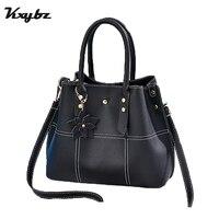 KXYBZ Luxury Handbags Women Bags Designer Leather Female Stitching Bags Plum Blossom Big Shoulder Bag Top Handle Bags sac a main